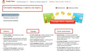 Переводы денег с карты на карту Альфа Банка: тарифы и условия